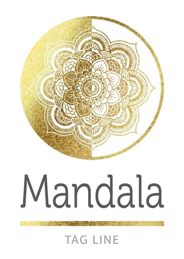 Mandala logo ilustracja wektor