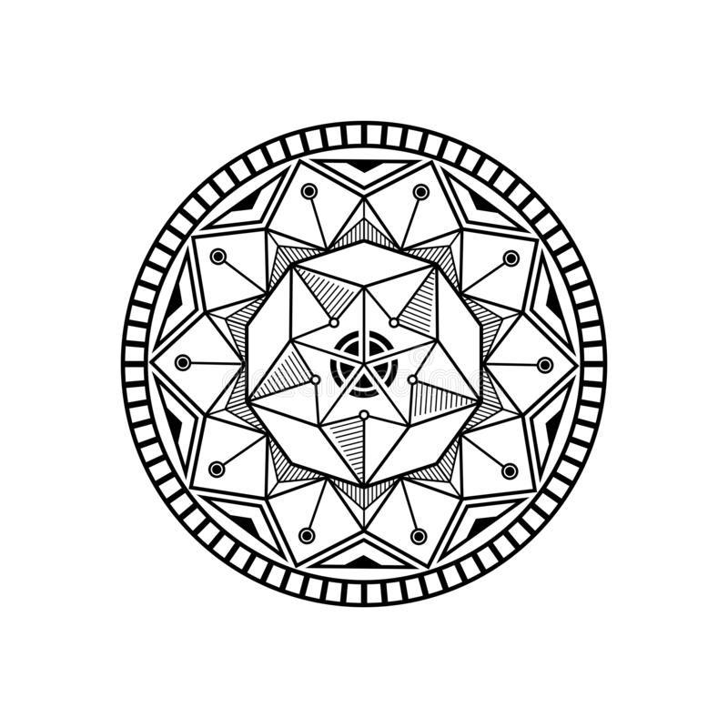 Mandala lotus design inspiration stock illustration