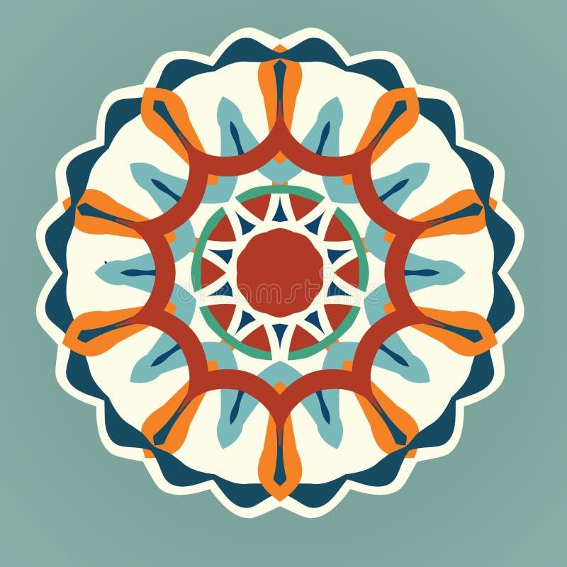 Mandala, mandala de vecteur, mandala floral, mandala de fleur, mandala oriental, mandala de coloration photo libre de droits