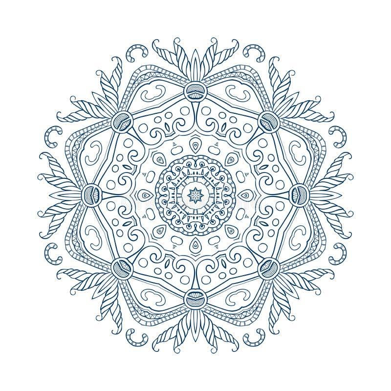 Mandala-09 a mano abstracto libre illustration