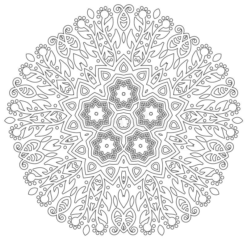 Mandala med blommadesign arkivfoton