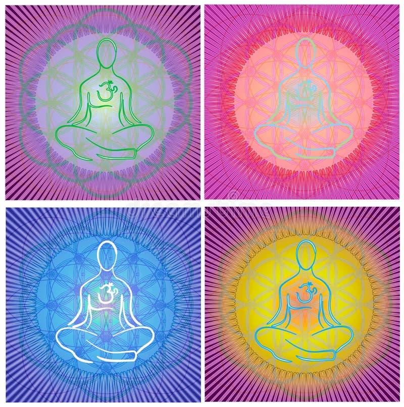 mandala medytacja ilustracja wektor