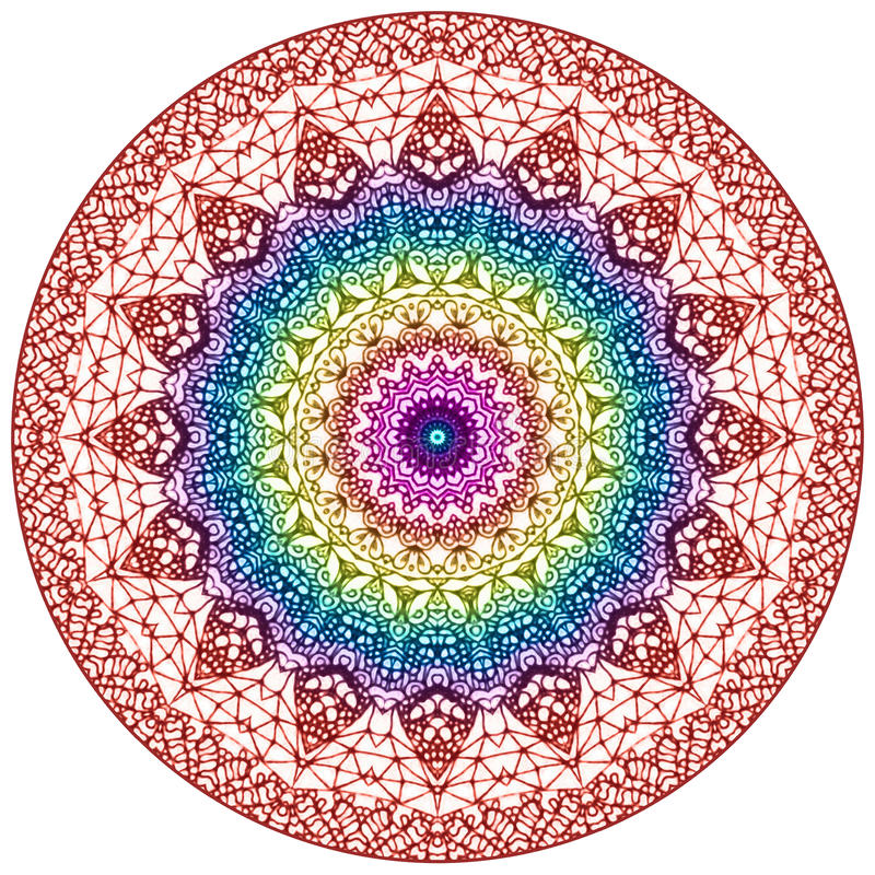 Mandala Mehndi Style stock illustrationer