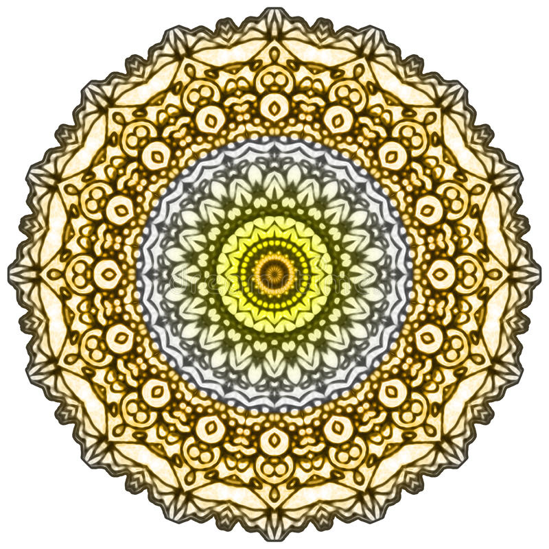 Mandala Mehndi Style royaltyfri illustrationer