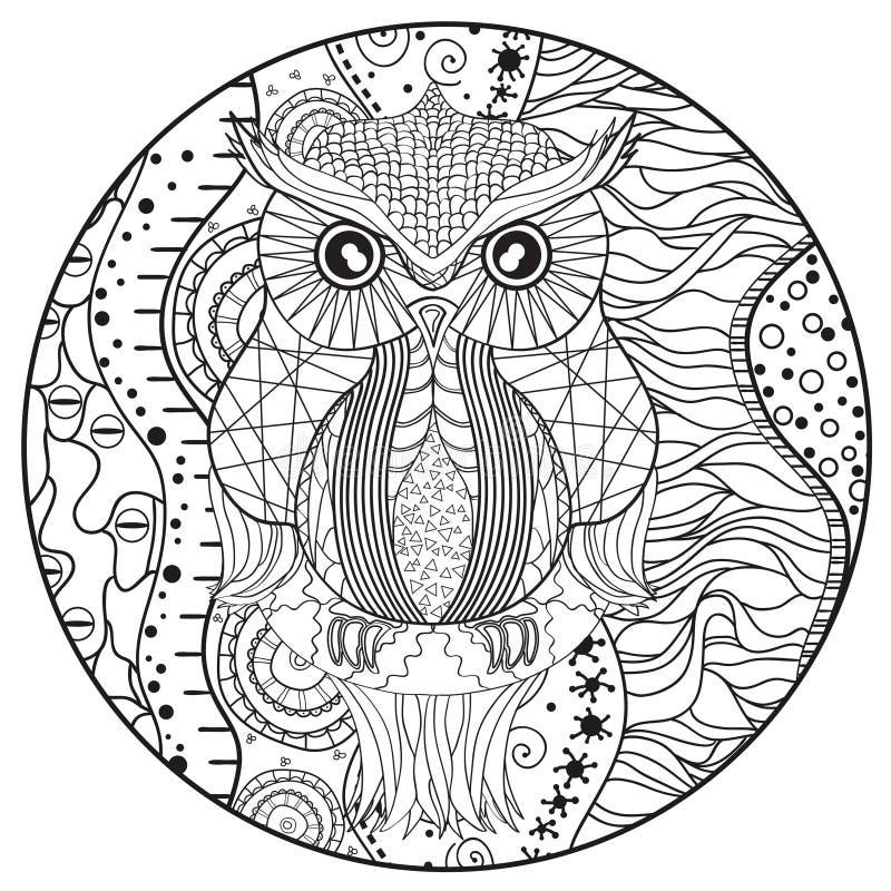 eule mandala  ausmalbild eulen mandala ausmalbilder