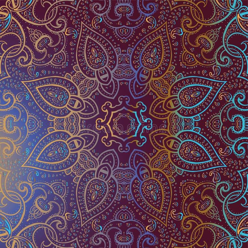 Mandala. Modèle décoratif indien. illustration stock