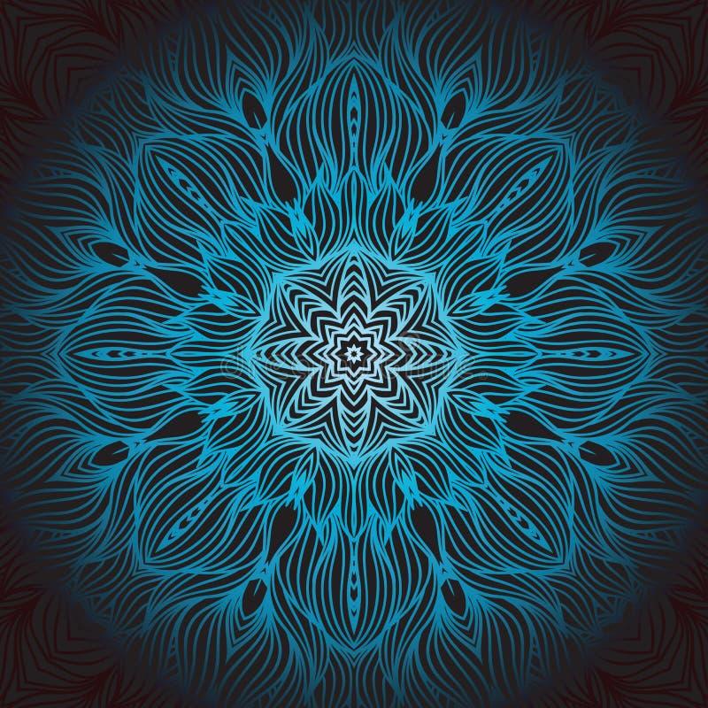 mandala Modèle rond d'ornement illustration libre de droits