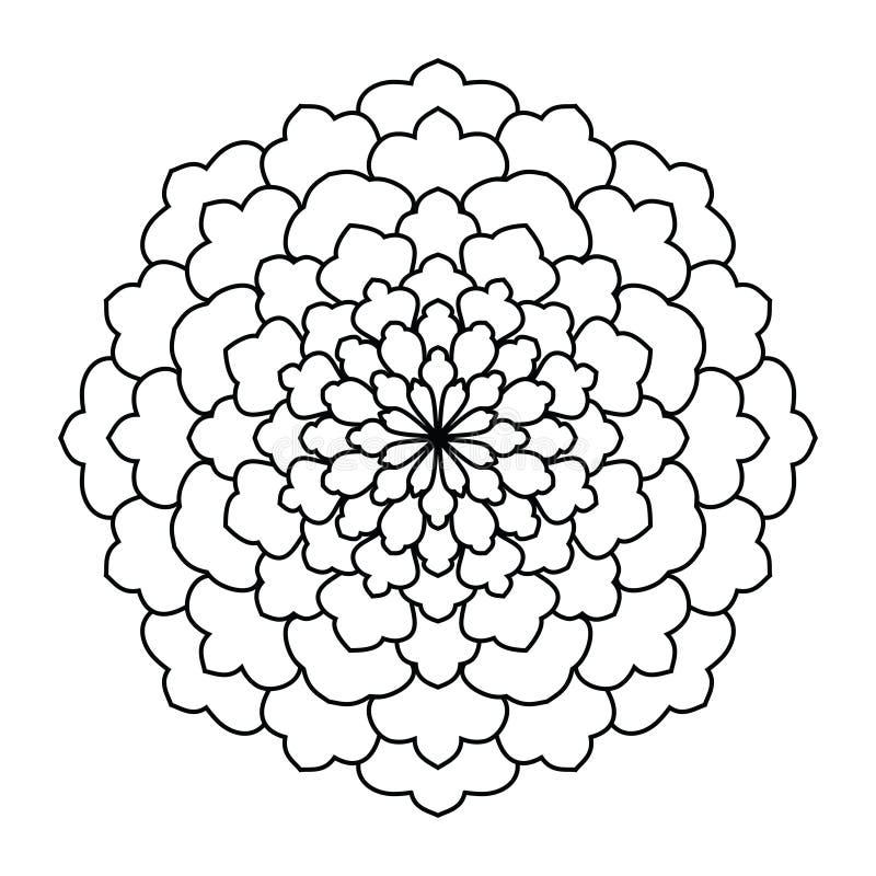 mandala Modèle rond d'ornement de vintage Islamique, arabe, indien illustration stock