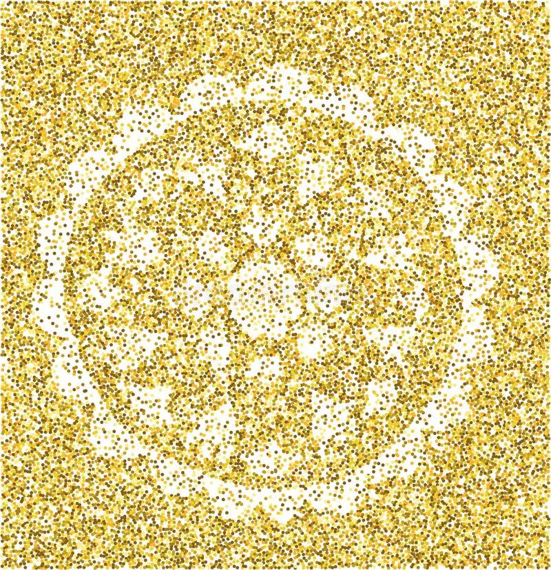 Mandala - modello circolare di vettore Ornamento rotondo oro illustrazione vettoriale