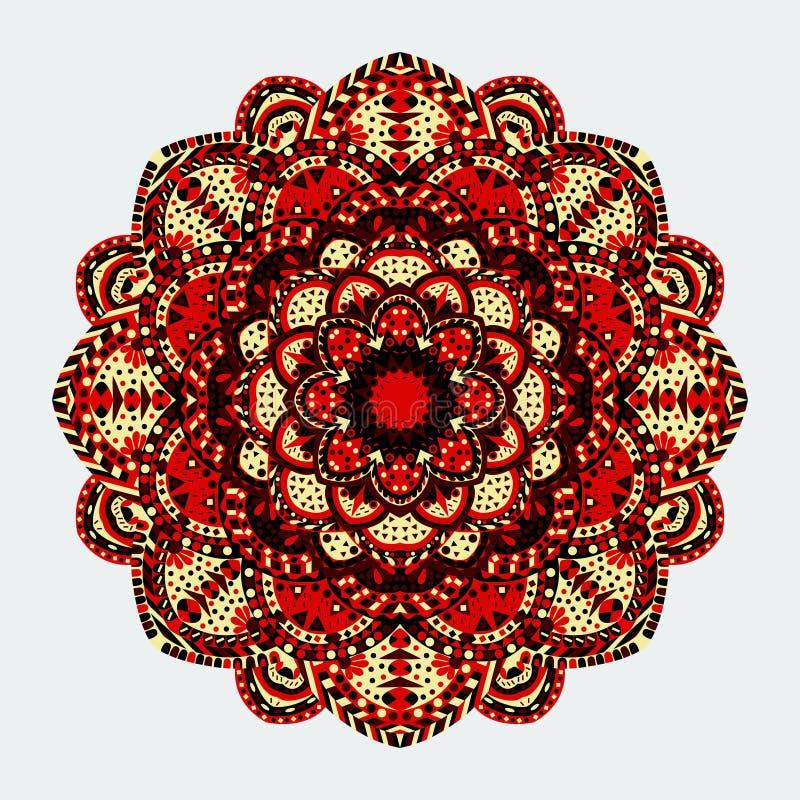 mandala Modelo redondo del ornamento Elementos decorativos de la vendimia libre illustration