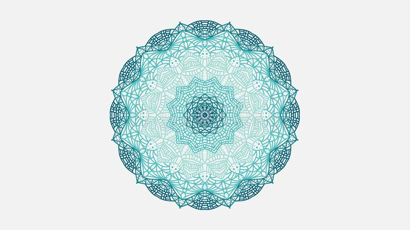 Mandala monochromatique illustration de vecteur