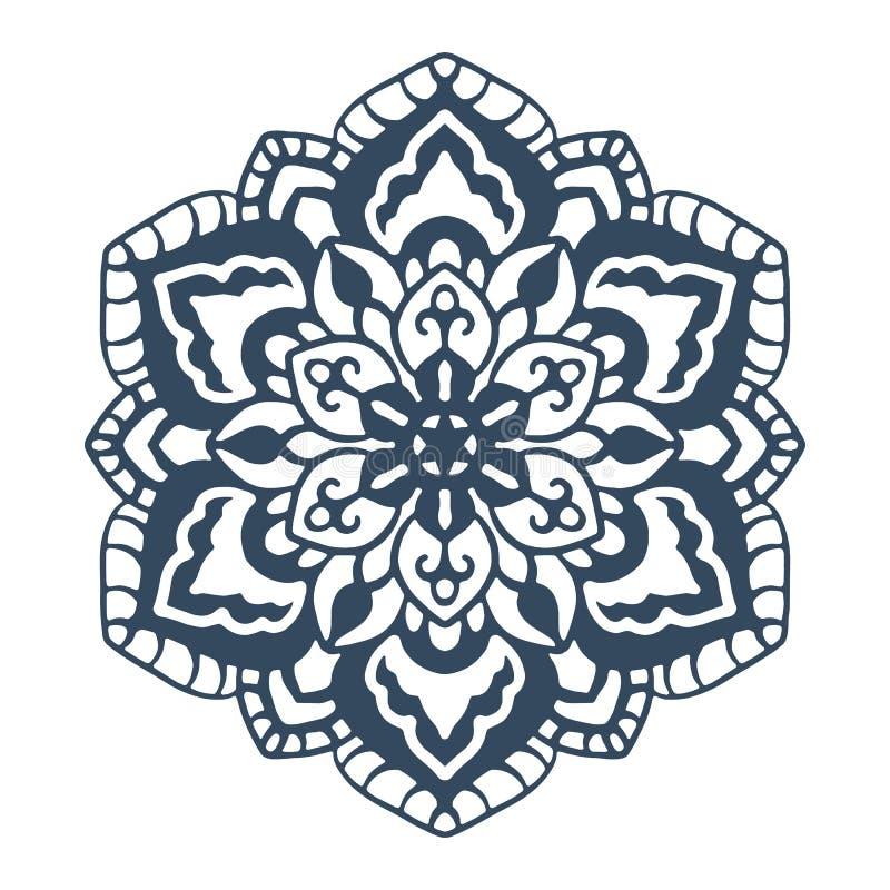 Monochrome mandala isolated on white background royalty free illustration