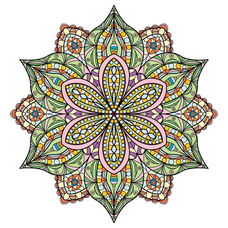 mandala Mooi multi gekleurd ontwerp Oosters bloempatroon royalty-vrije illustratie