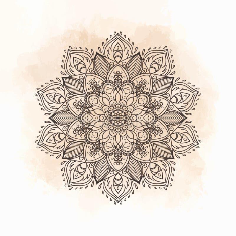 mandala Mooi uitstekend rond patroon in vector vector illustratie