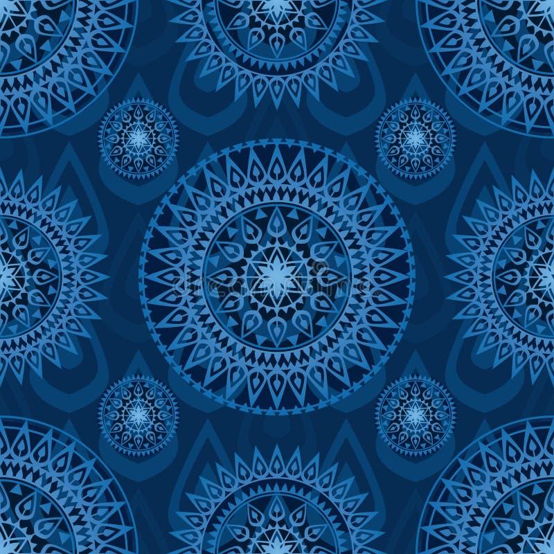 Mandala naadloos patroon van het pijlwapen royalty-vrije illustratie
