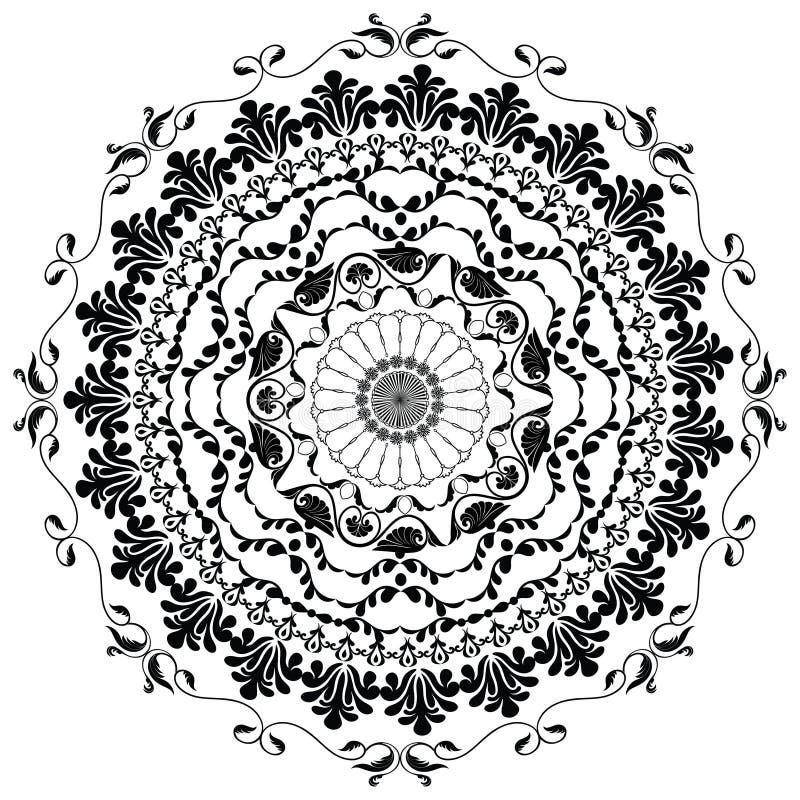 Mandala noir de vecteur images stock