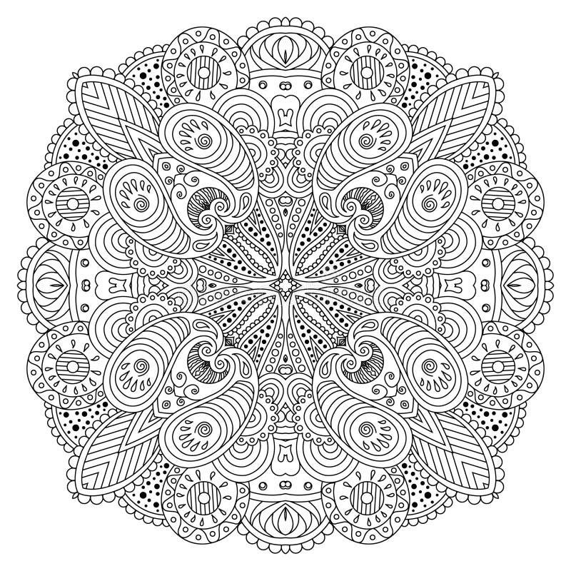 Mandala noir et blanc illustration libre de droits
