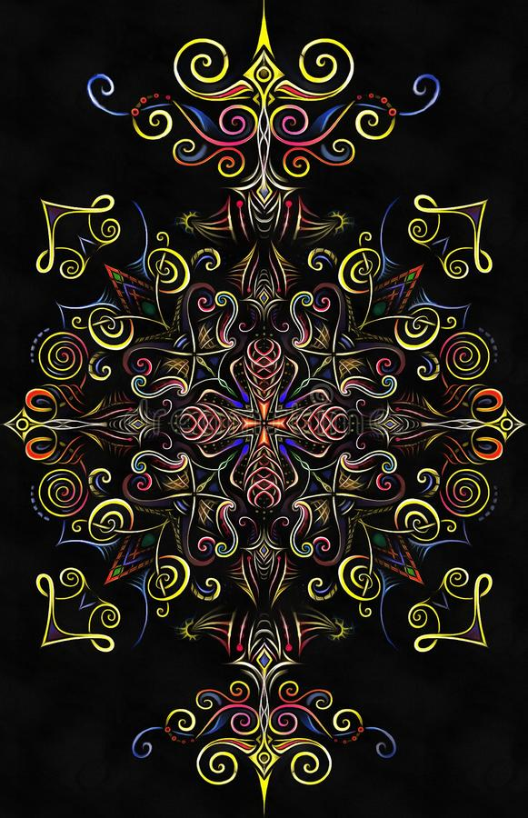 Mandala Noname Long ilustração stock
