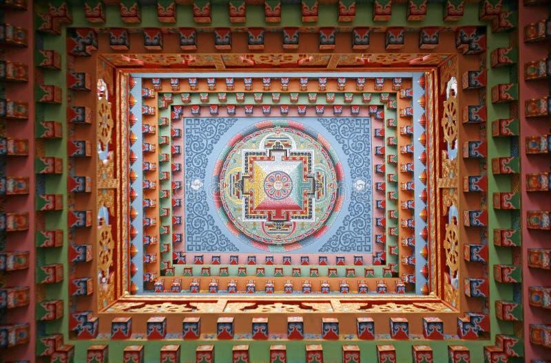 mandala obrazu monestery tybetańskiej fotografia royalty free