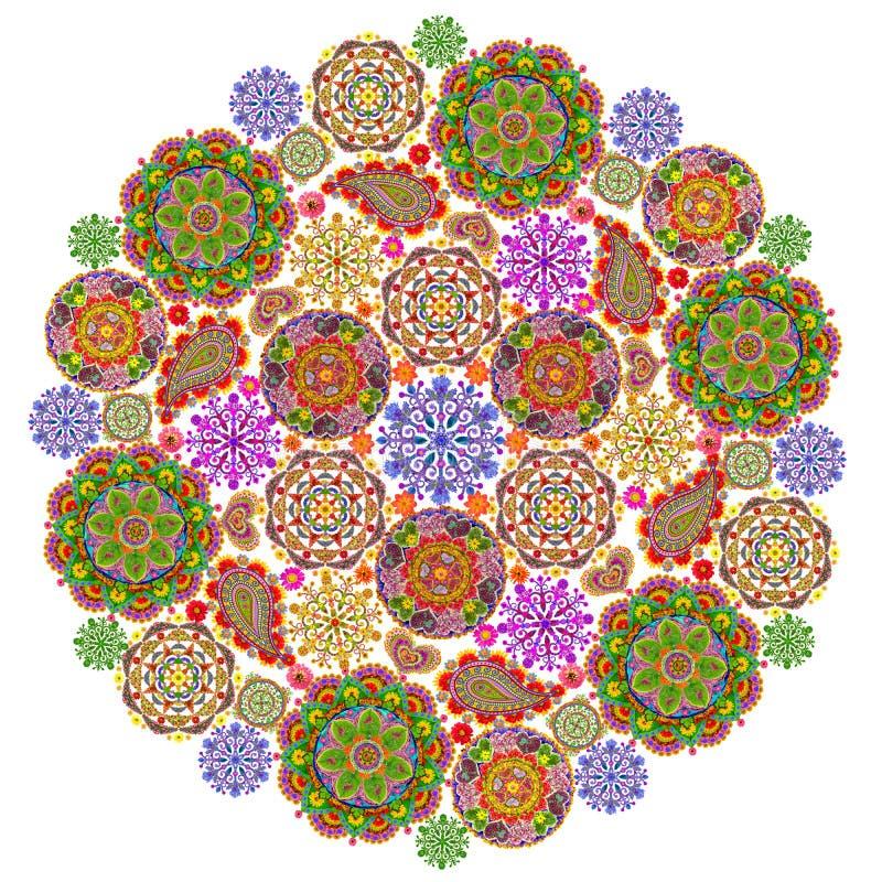 Mandala od mandalas ilustracja wektor