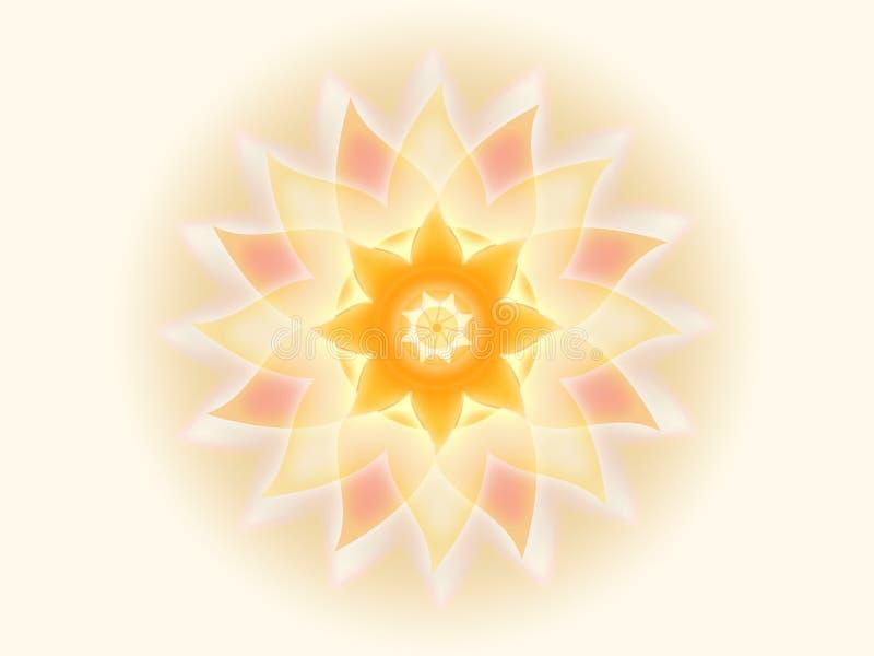 Mandala orange 001-1 illustration stock