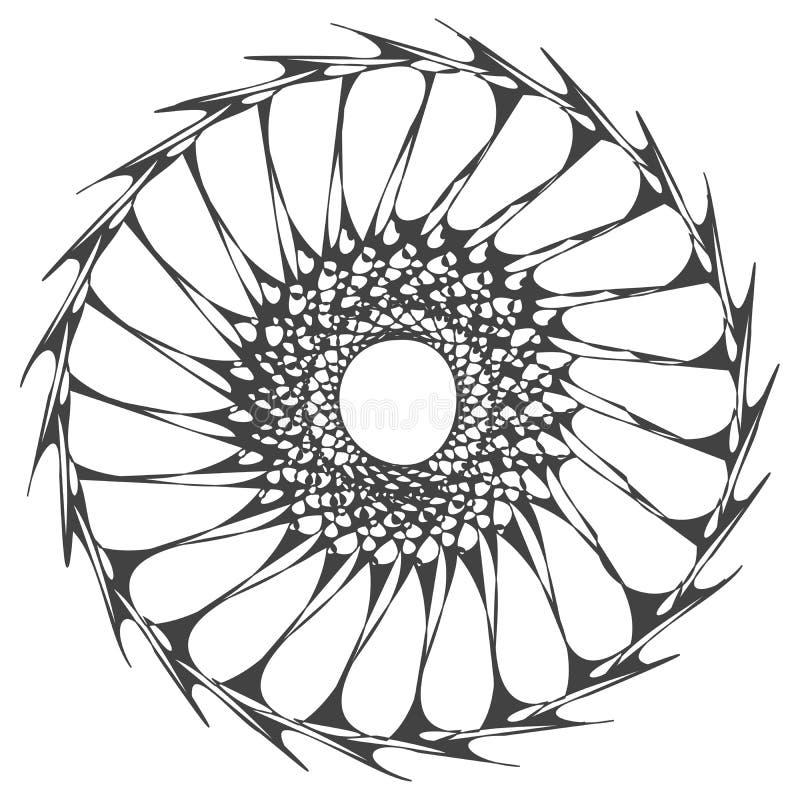 Mandala organica dell'anello immagini stock libere da diritti