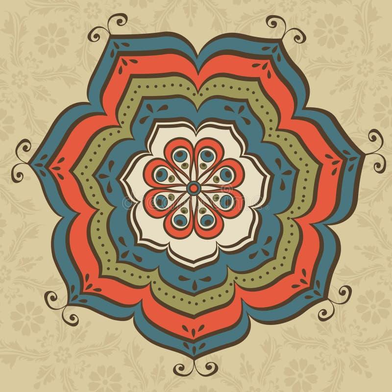 Mandala oriental illustration de vecteur