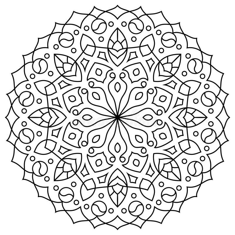 Mandala oriental de style, modèle indien, illustration de vecteur photos libres de droits