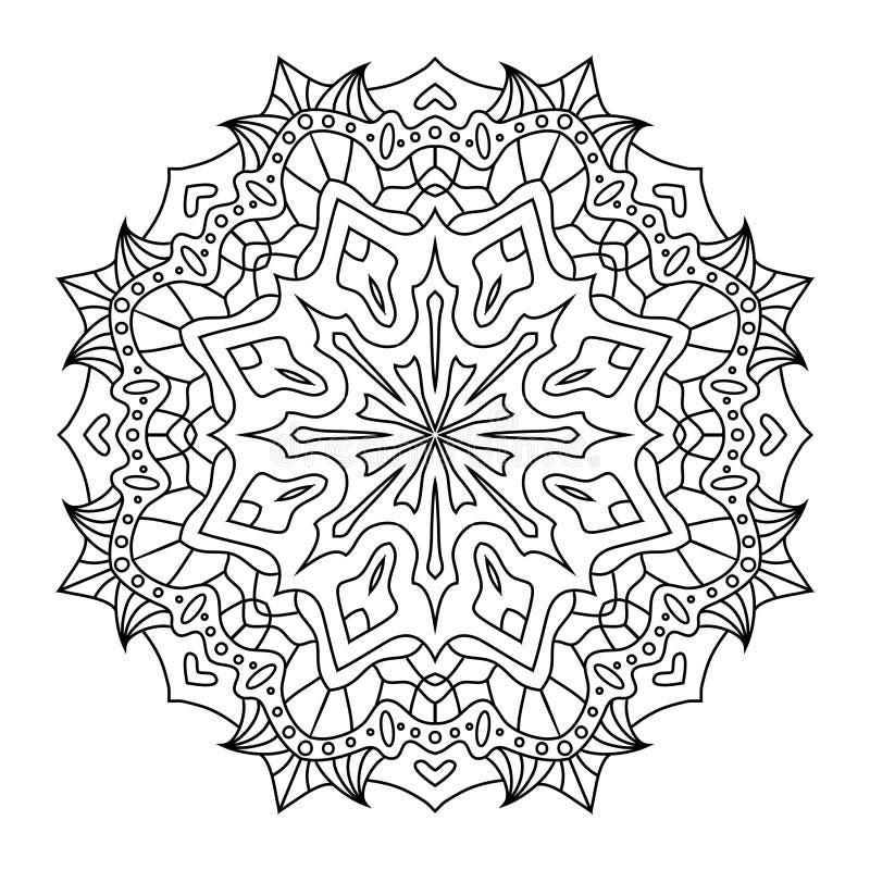 Mandala orientale di stile, modello indiano, illustrazione di vettore fotografie stock