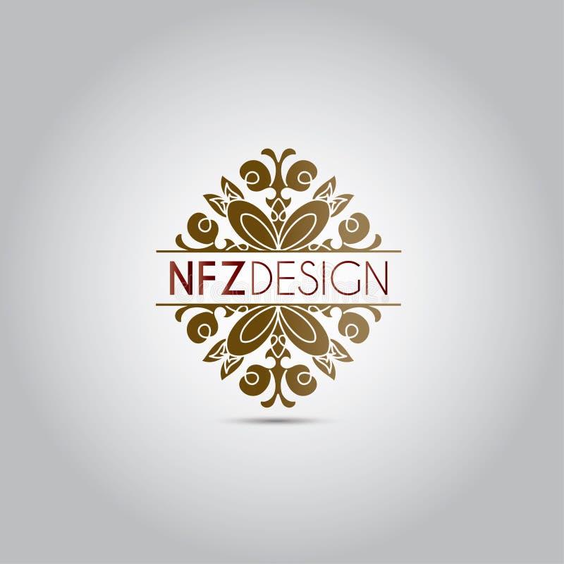 Mandala Ornament Vector Logo stock illustrationer