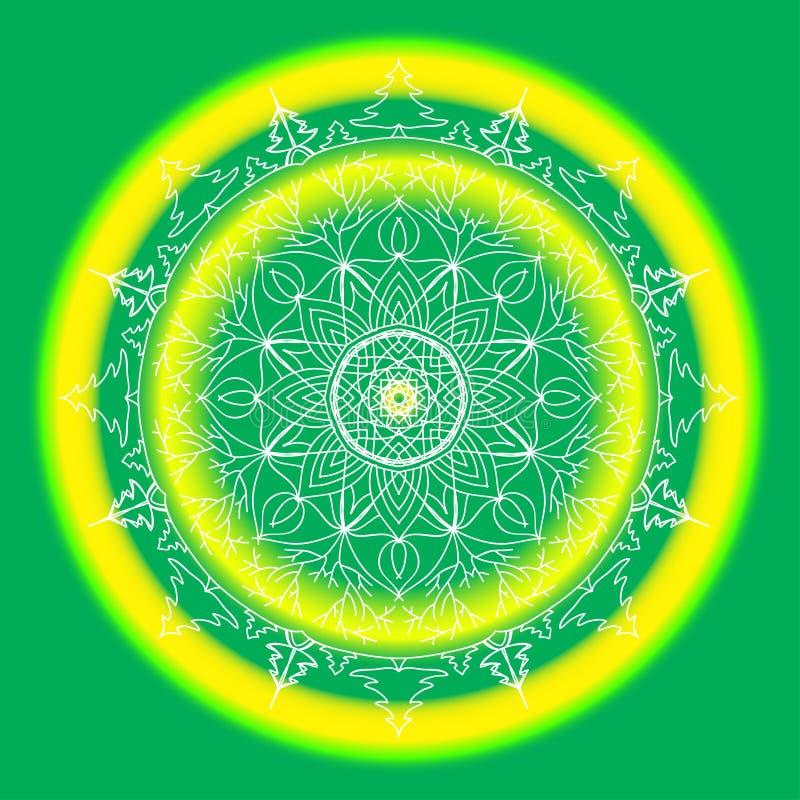 Mandala ornamentado do la?o redondo decorativo Teste padrão brilhante para a cópia, álbum de recortes, cartões, design web Fundo  ilustração do vetor