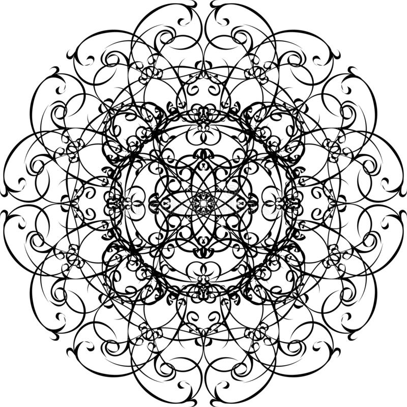 Mandala ornamental Mano drenada libre illustration