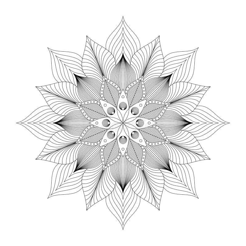 Mandala, ornamento étnico tribal, arte del vector fotografía de archivo libre de regalías