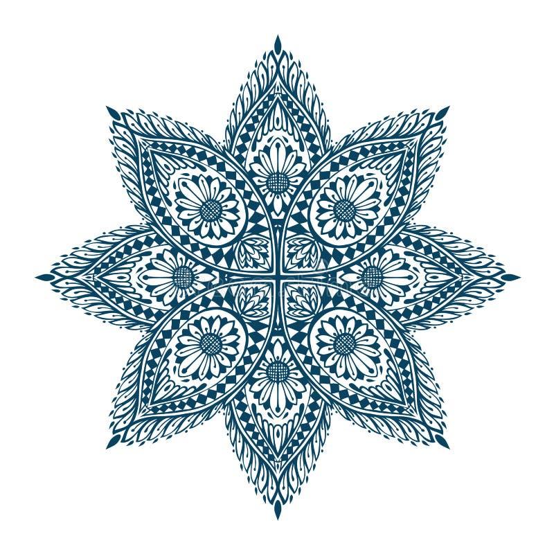 mandala Ornamento floral étnico decorativo Ilustración del vector libre illustration