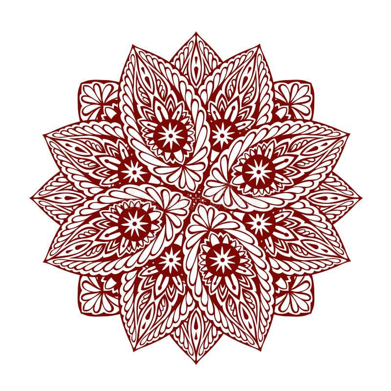 mandala Ornamento floral étnico decorativo Ilustración del vector ilustración del vector