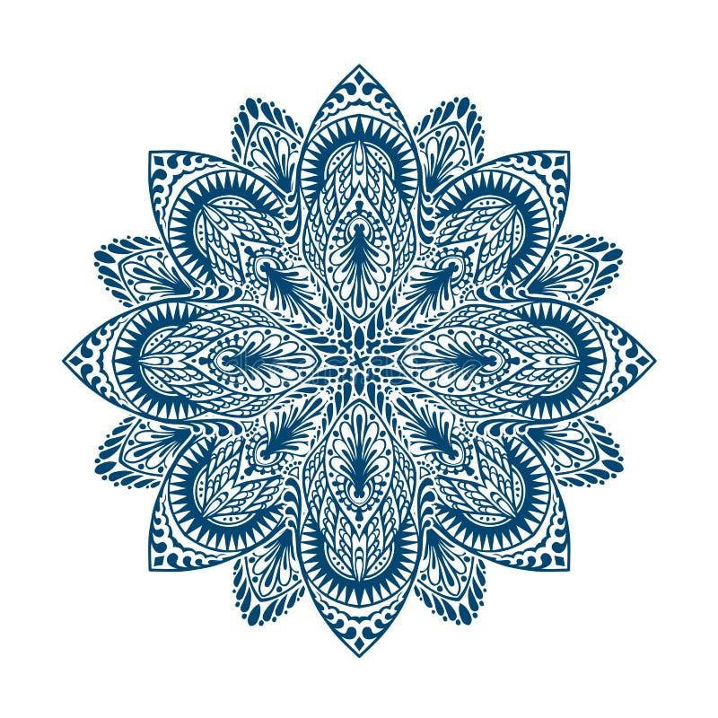 mandala Ornamento floral étnico decorativo Ilustración del vector aislada en el fondo blanco libre illustration