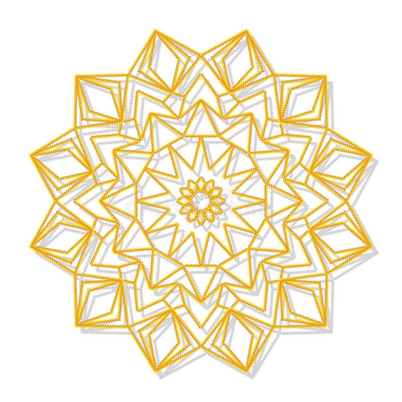 Download Mandala Ornamento Redondo Decorativo Modelo Antiesfuerzo De La Terapia Ilustración del Vector - Ilustración de mystical, marco: 100529758