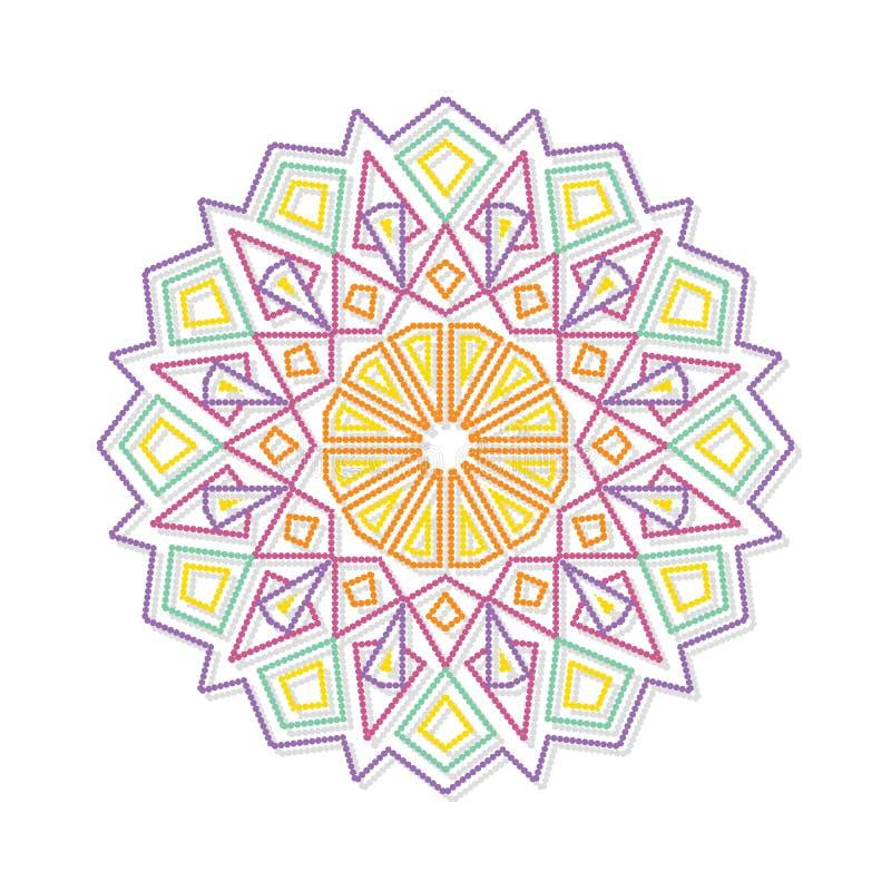 Download Mandala Ornamento Redondo Decorativo Modelo Antiesfuerzo De La Terapia Ilustración del Vector - Ilustración de misterio, floral: 100529875