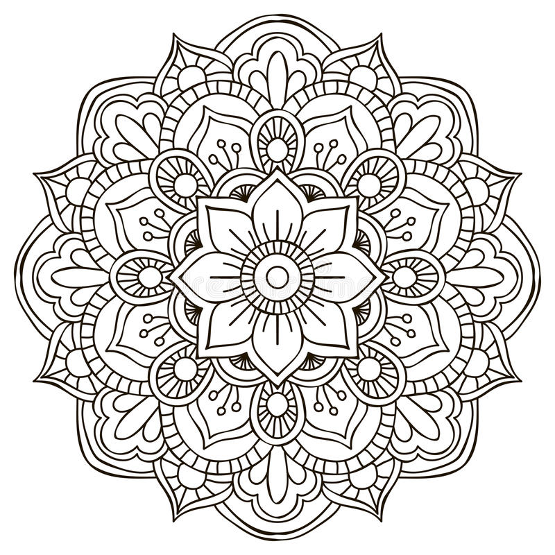 mandala Ornement rond illustration de vecteur