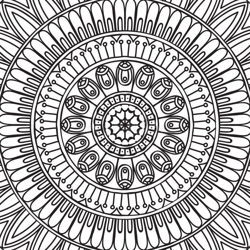 mandala Página da coloração ilustração royalty free