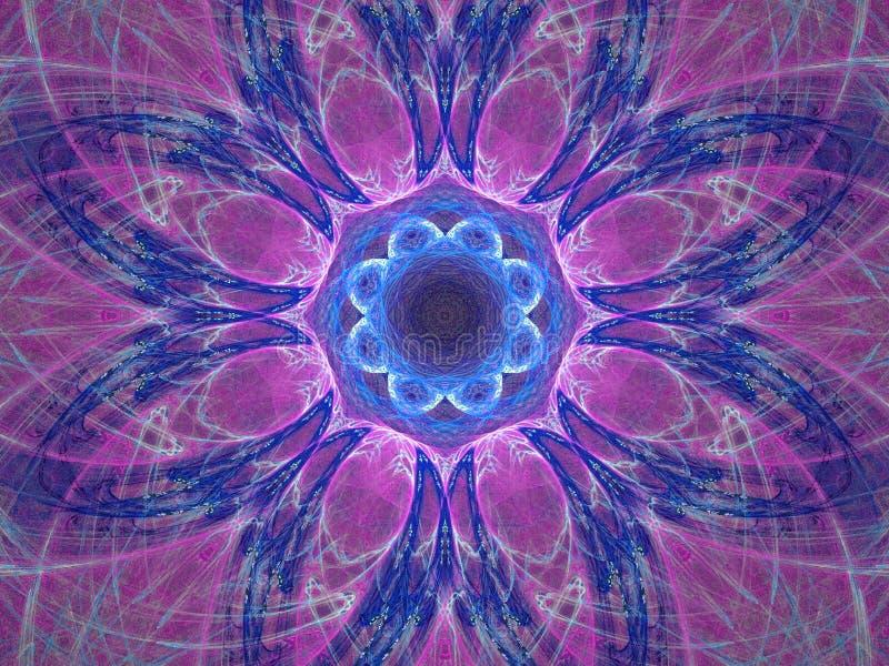 Mandala púrpura stock de ilustración