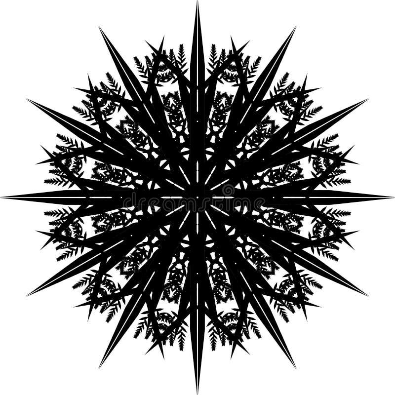 Mandala, płatek śniegu II ilustracja wektor