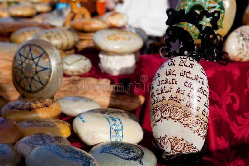 Mandala Painted Pebbles royalty free stock image