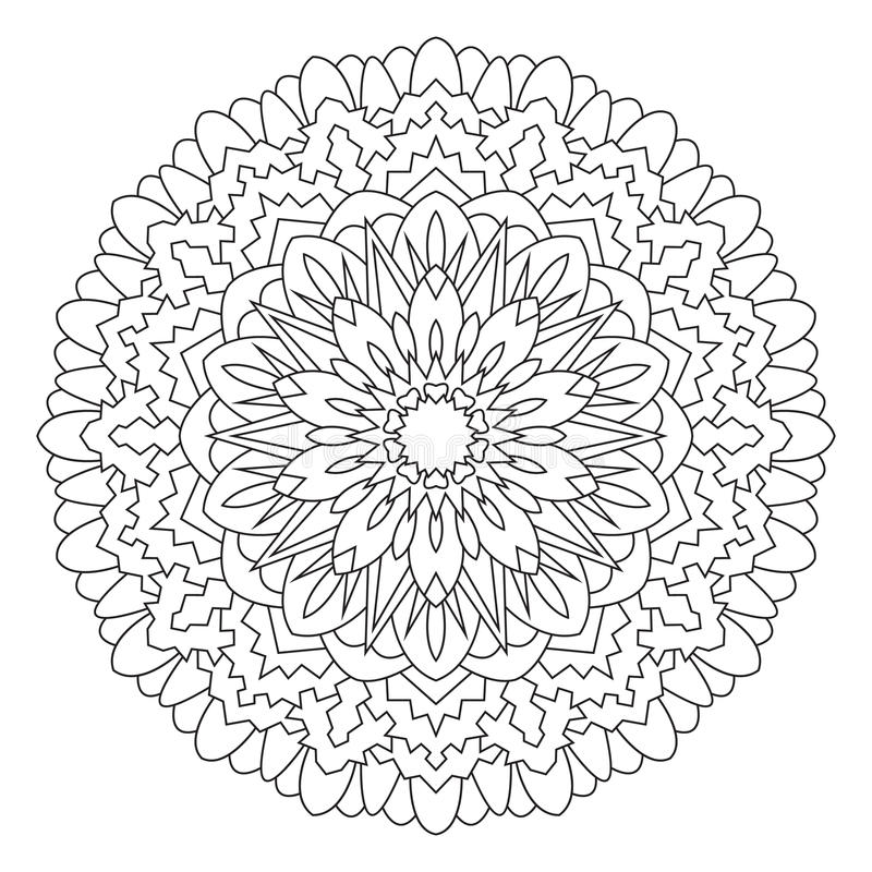 Mandala for painting and coloring. royalty free illustration