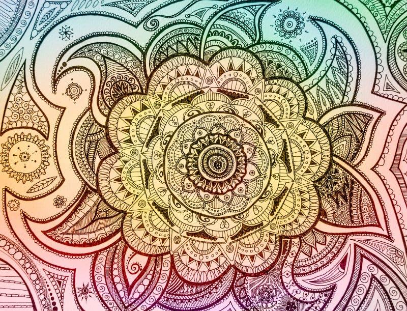 Mandala Paisley stock de ilustración
