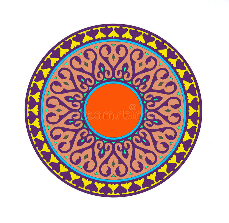 Mandala paquistaní stock de ilustración