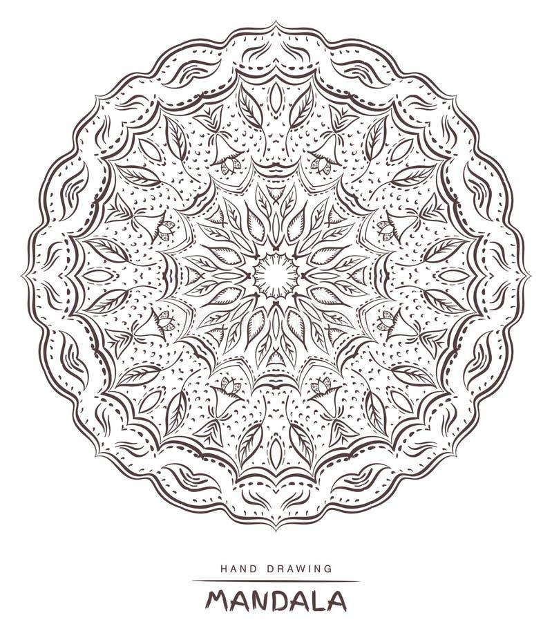 Mandala para colorear Mandala hermosa de Deco del vector, decoración étnica stock de ilustración