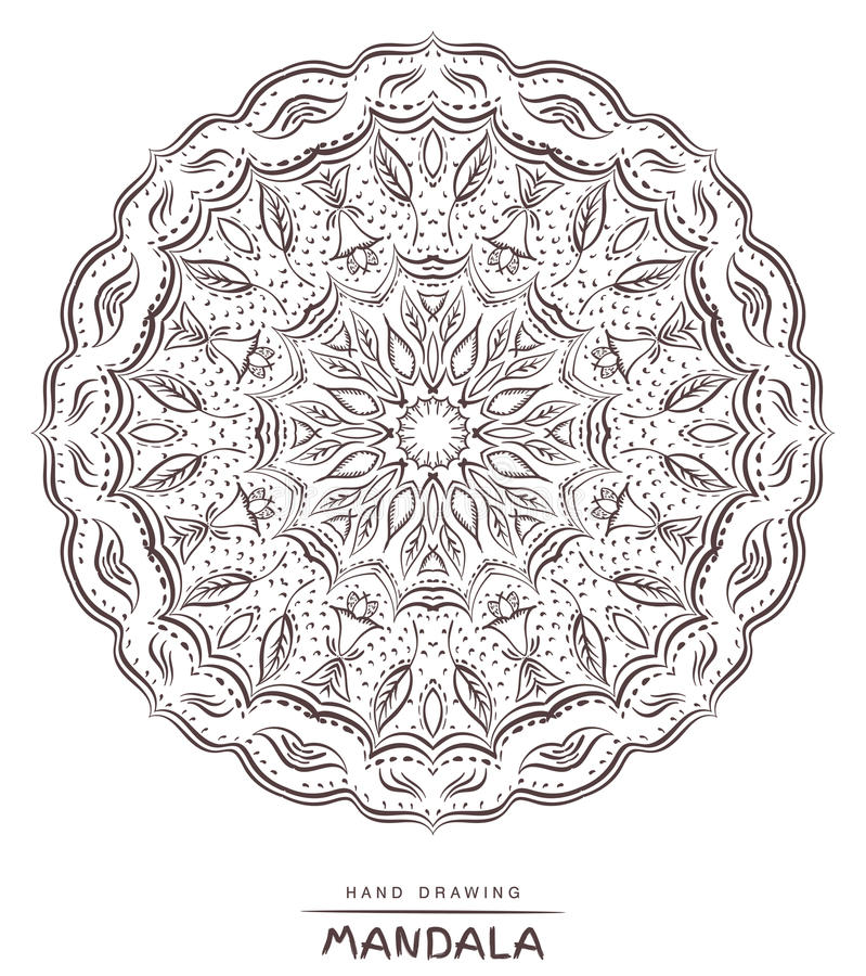 Mandala para colorir Mandala bonita de Deco do vetor, decoração étnica ilustração stock