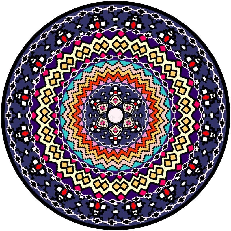 Mandala Pattern vektor illustrationer