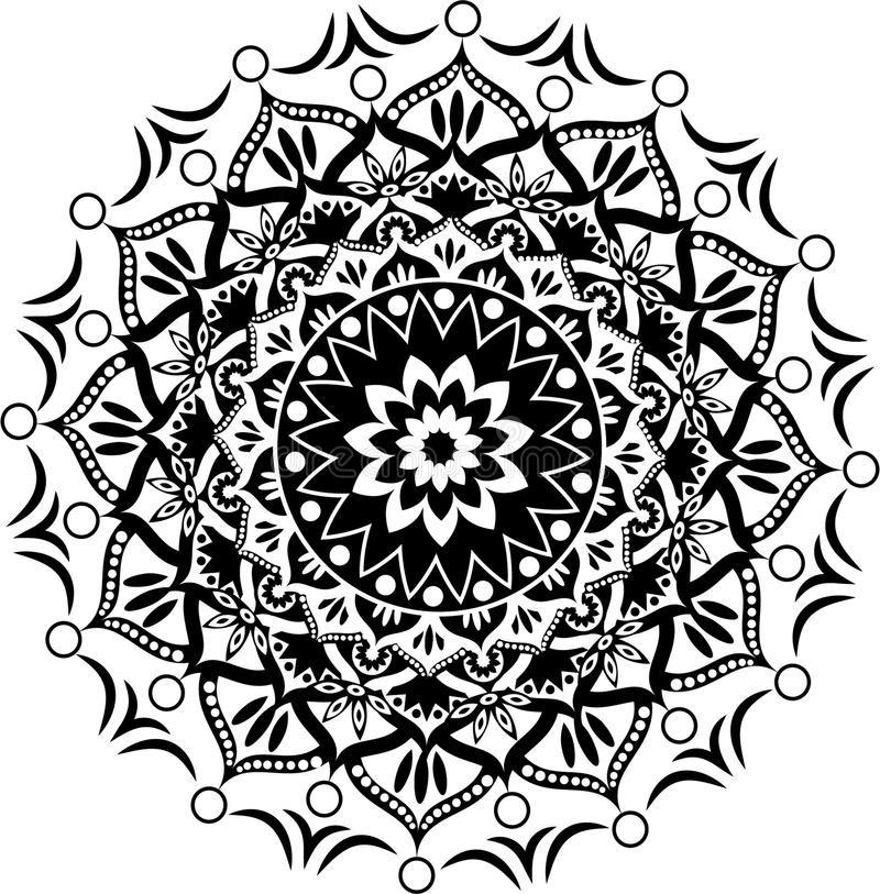 Mandala Pattern ilustração do vetor